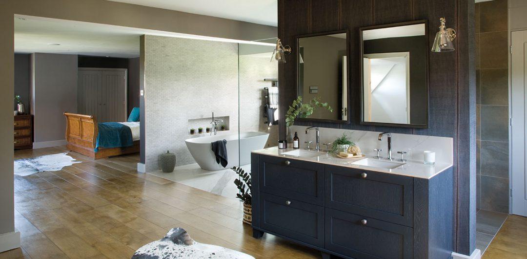 House Tour A Stunning Open Plan Bedroom Bathroom