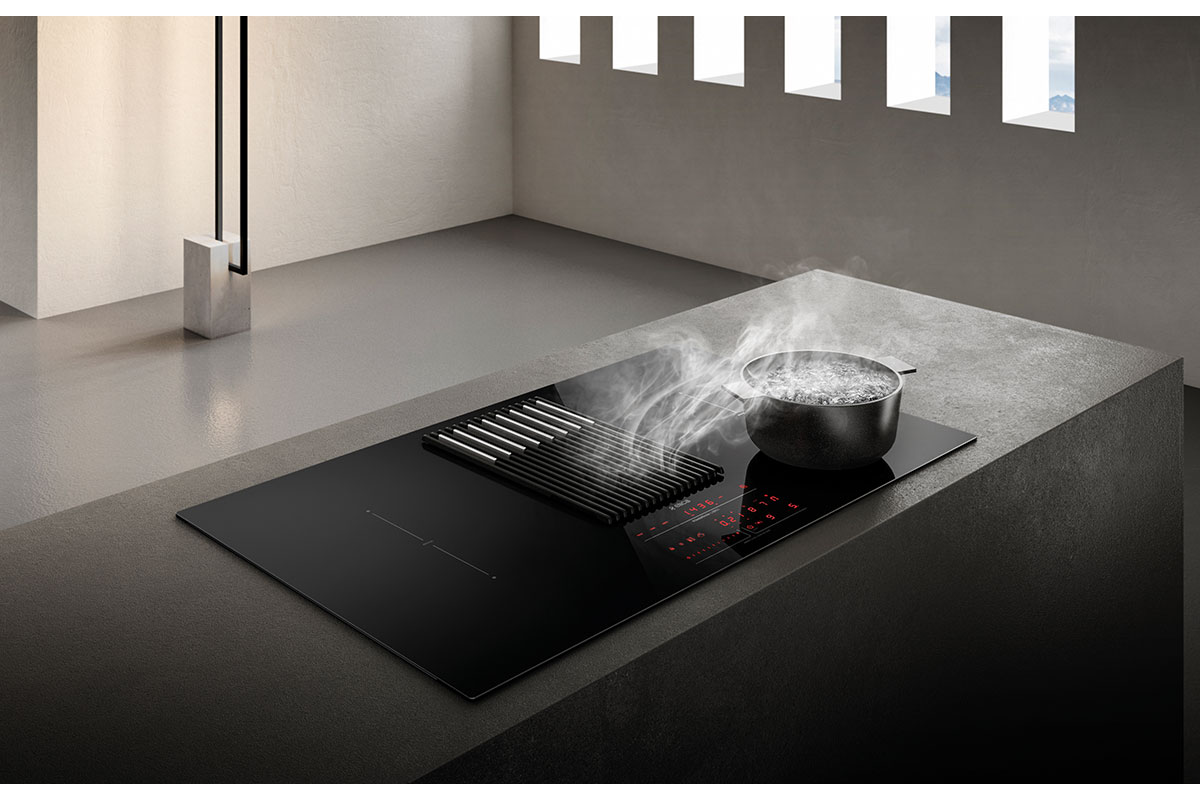 Large vented induction hob