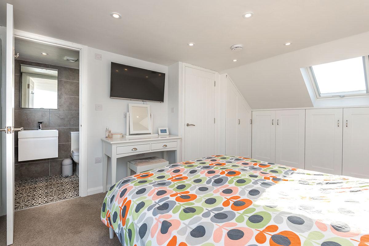 Small loft conversion with ensuite bathroom