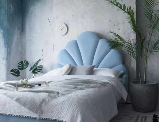 Blue bed