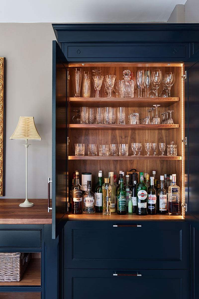 Bespoke storage for barware and glasses
