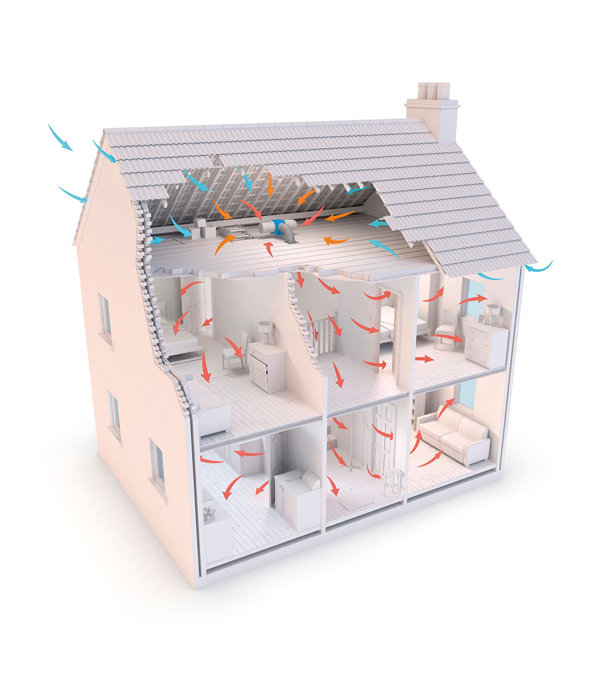 The system can clean your home's air