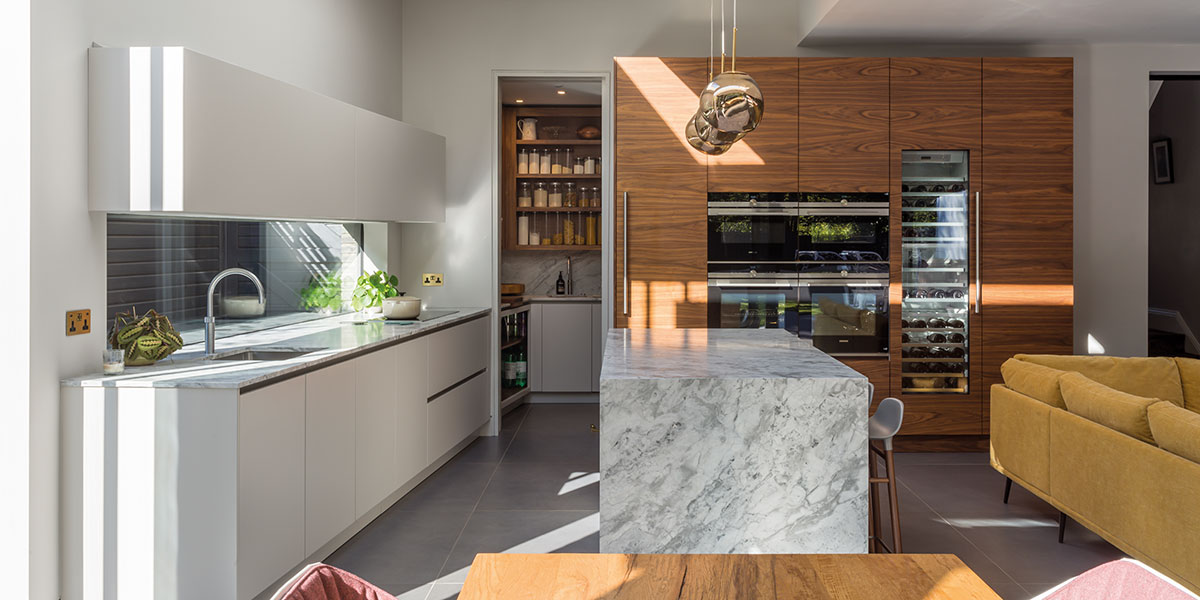 A contemporary kitchen-diner