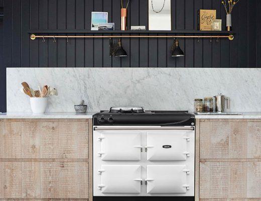 white classic range cooker