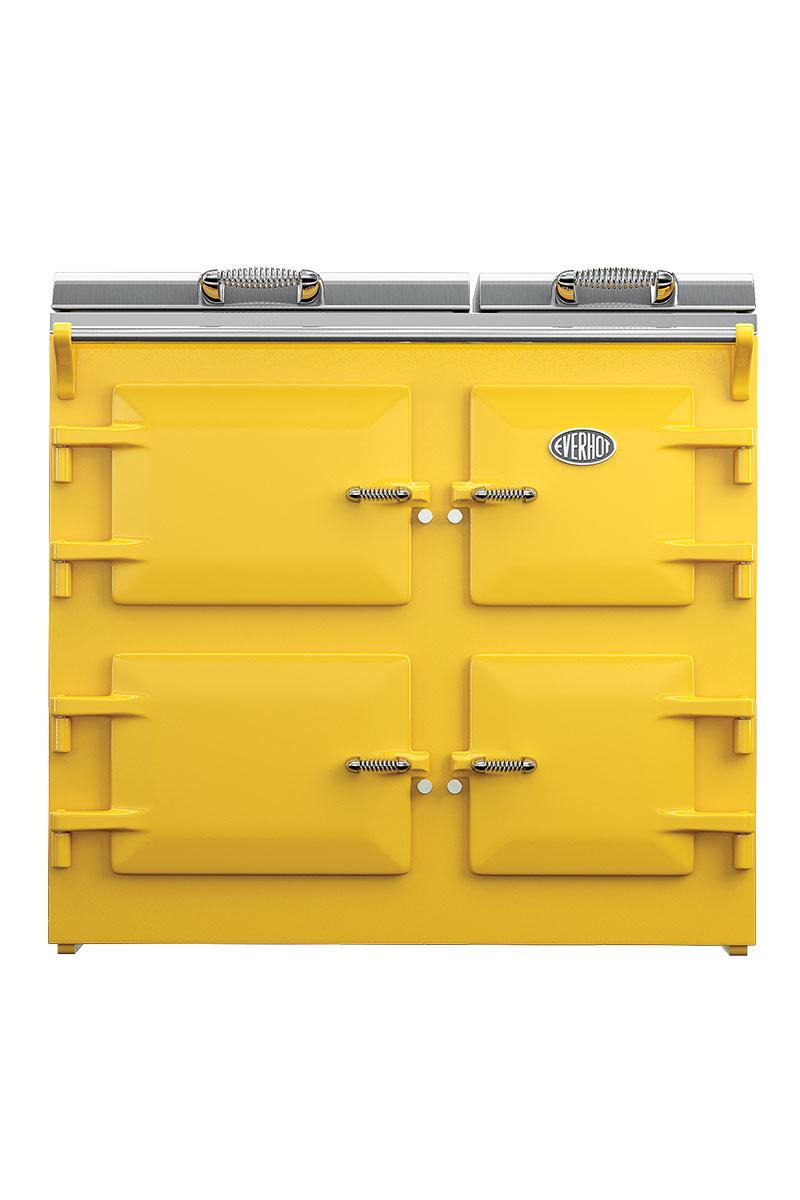 Everhot yellow range cooker