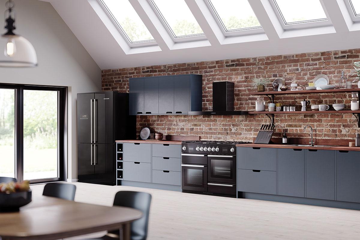 Nexus steam range cooker from Rangemaster in black