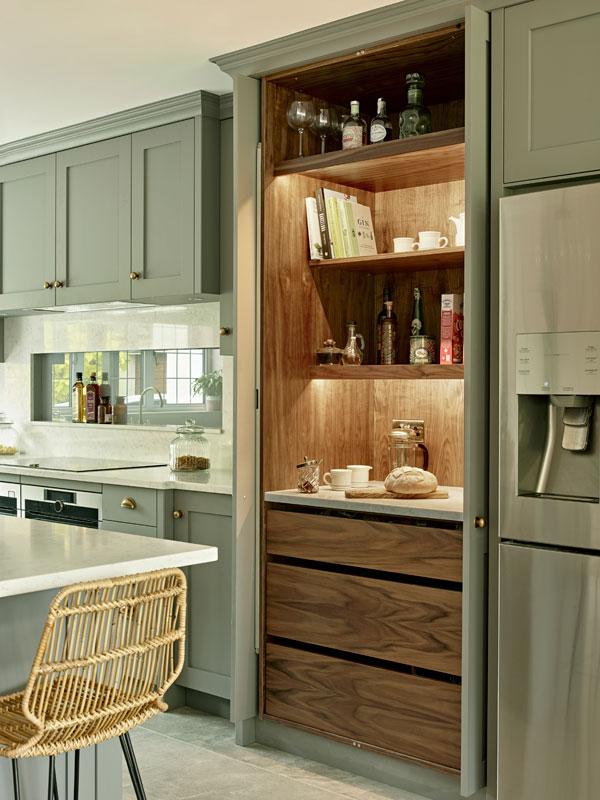 Larder cupboard lighting