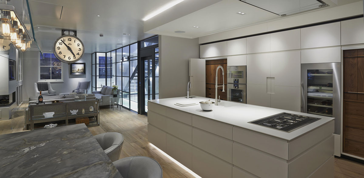 Spotlight and accent kitchen lighting