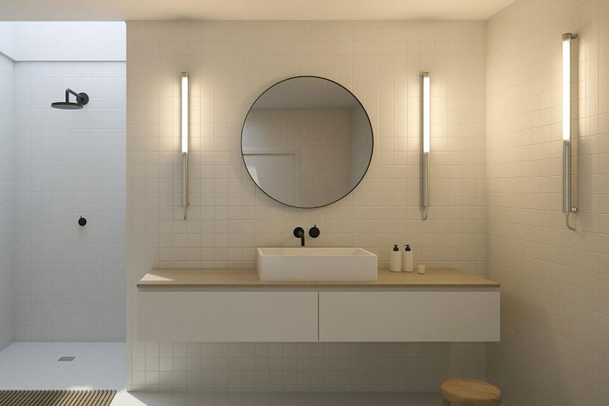 Bathroom lighting wall fittings