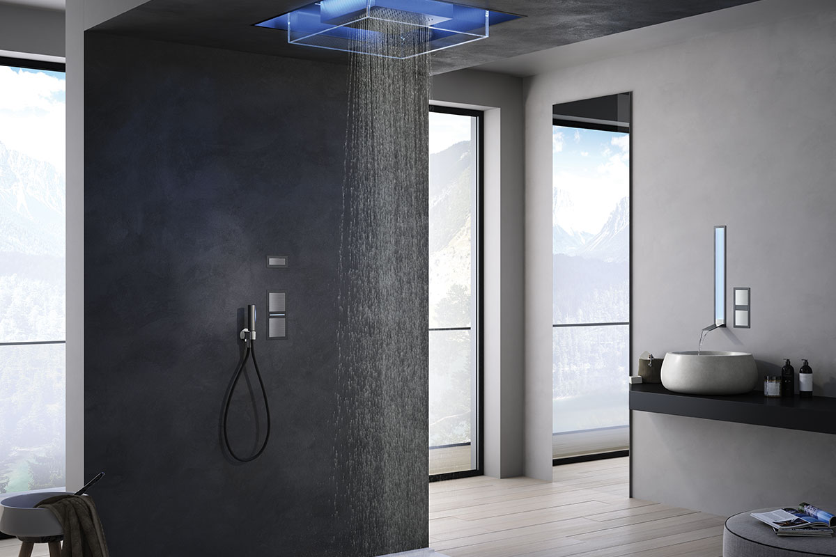 chromatherapy overhead shower