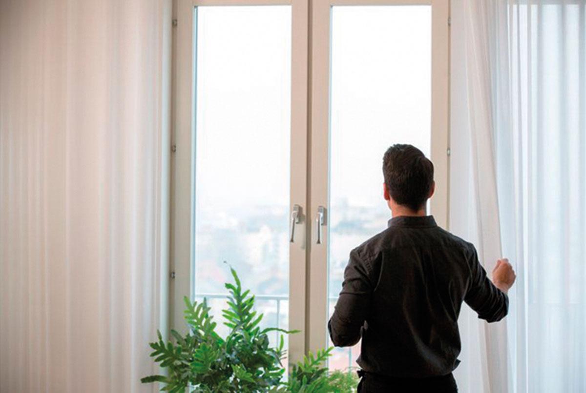 Air purifier curtain