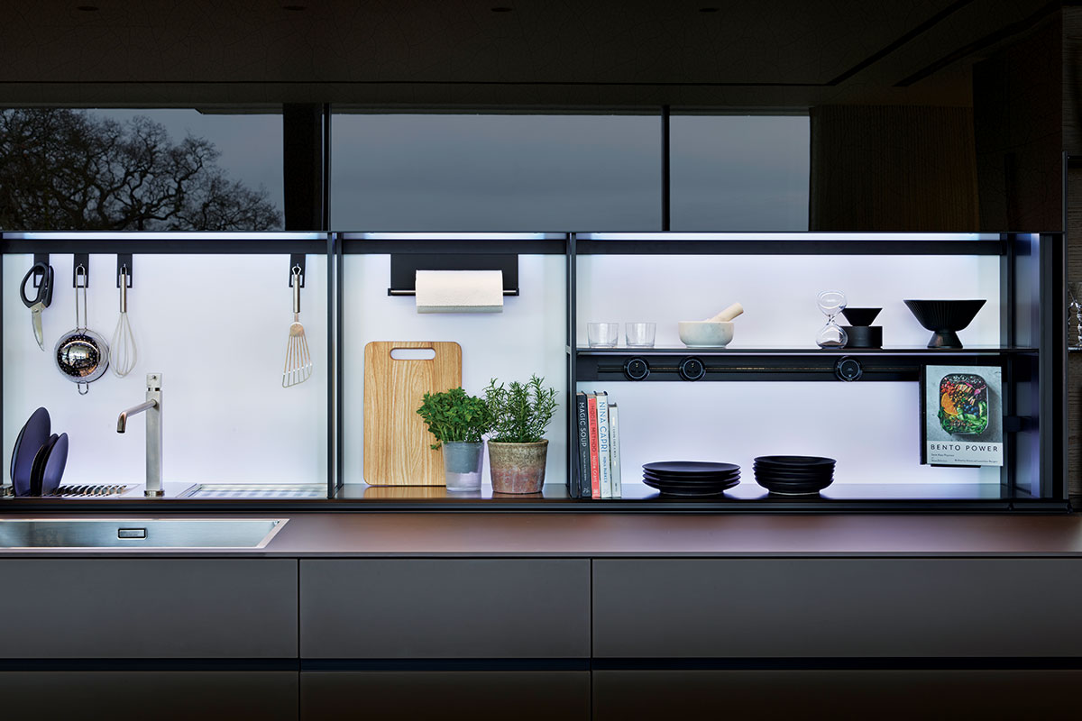 Black eco-friendly kitchen made from glass