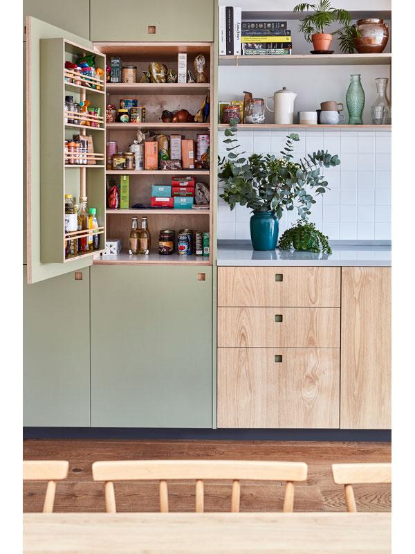 Built-in pantry cupboard