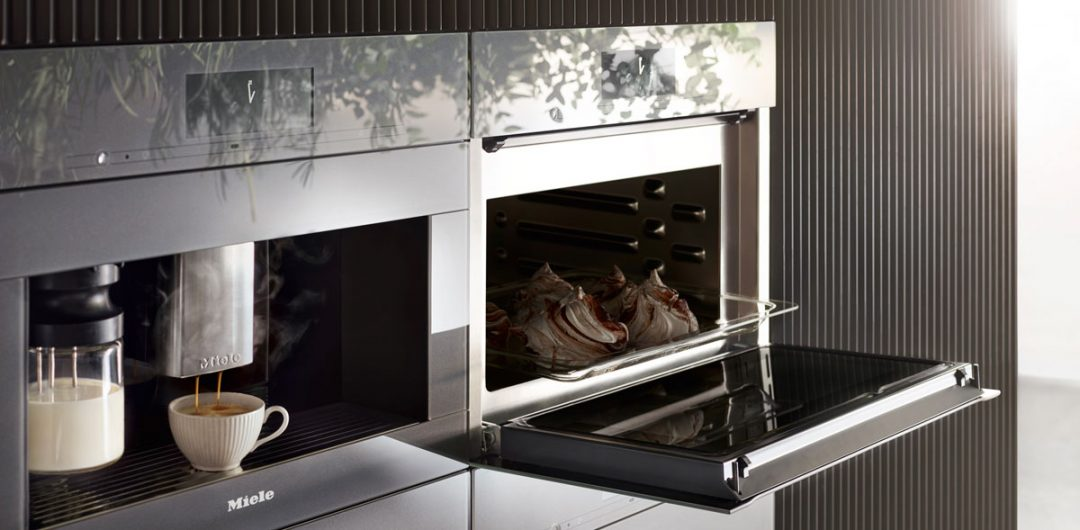 Miele built-in appliances coffee machine oven
