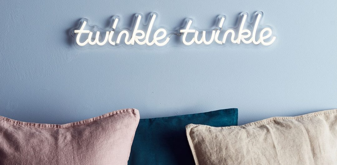 bedroom lighting neon sign twinkle twinkle