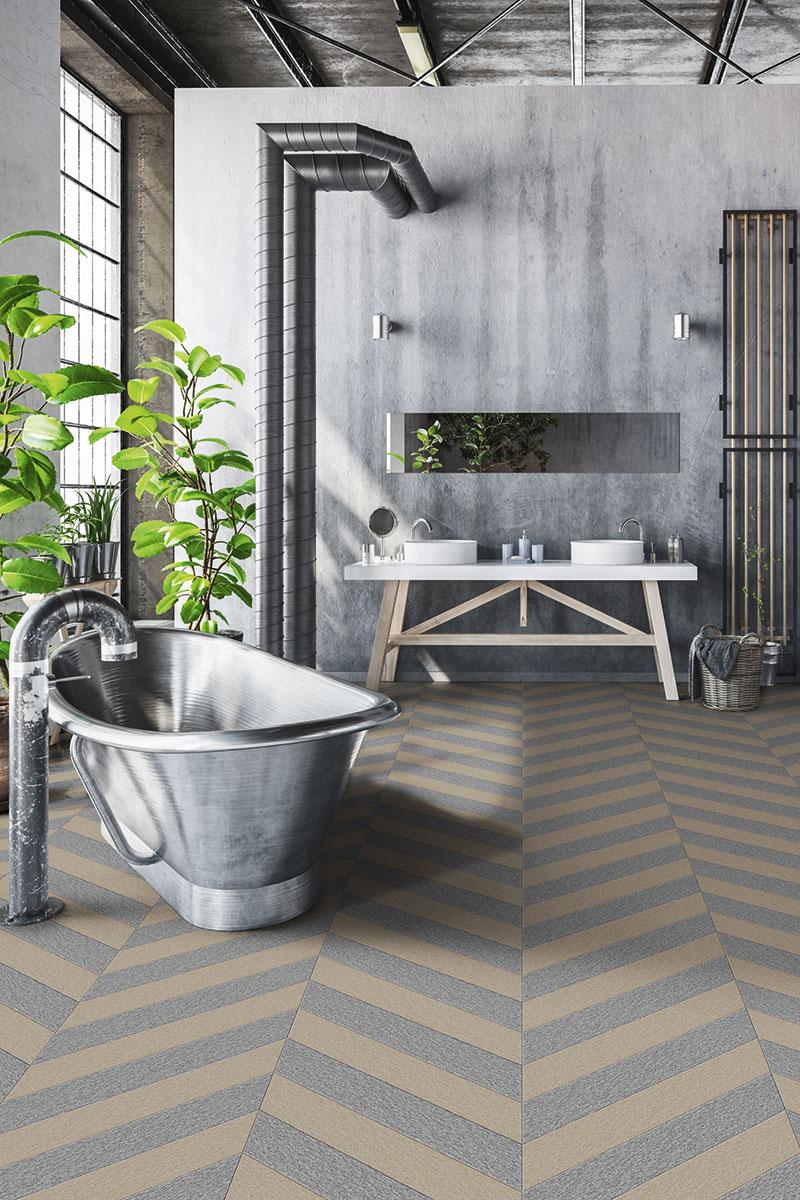 Industrial look bathroom scheme