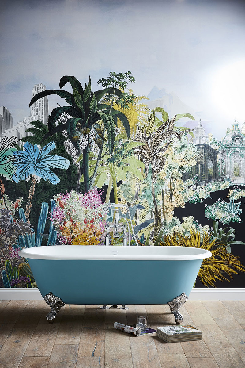 Blue bathtub Heritage Bathrooms