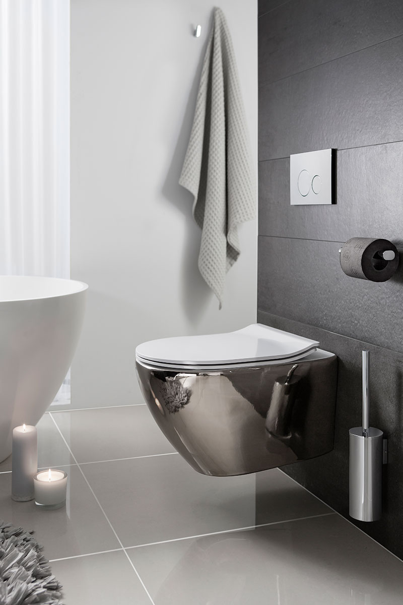 Chrome toilet