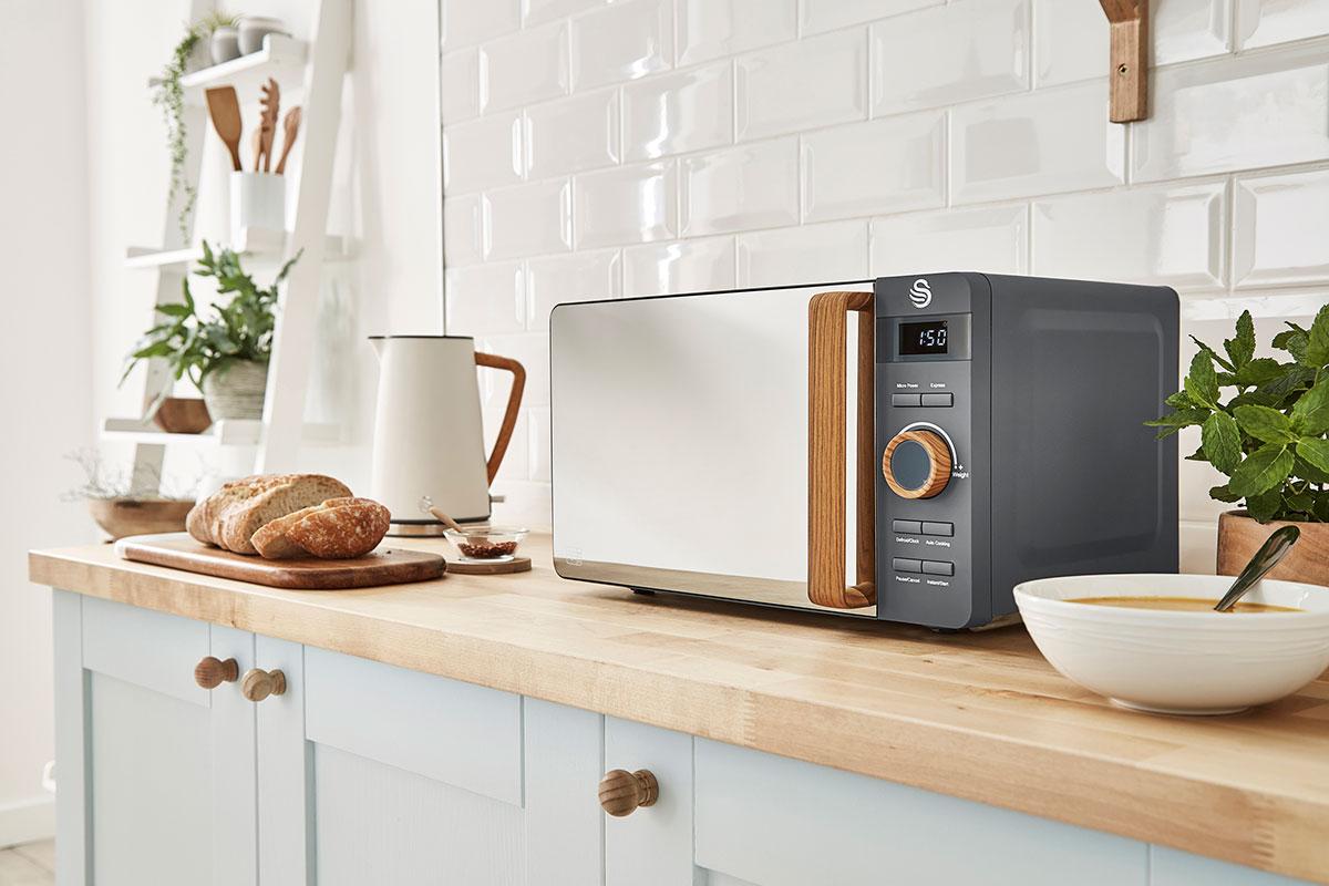 Countertop appliances Swan Nordic digital microwave grey