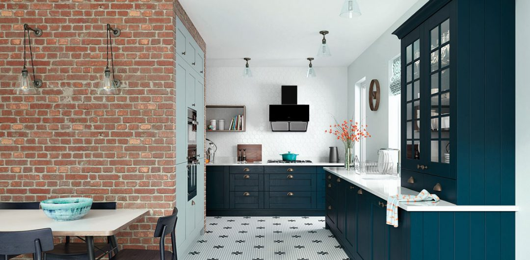 Blue Monday Midnight blue kitchen