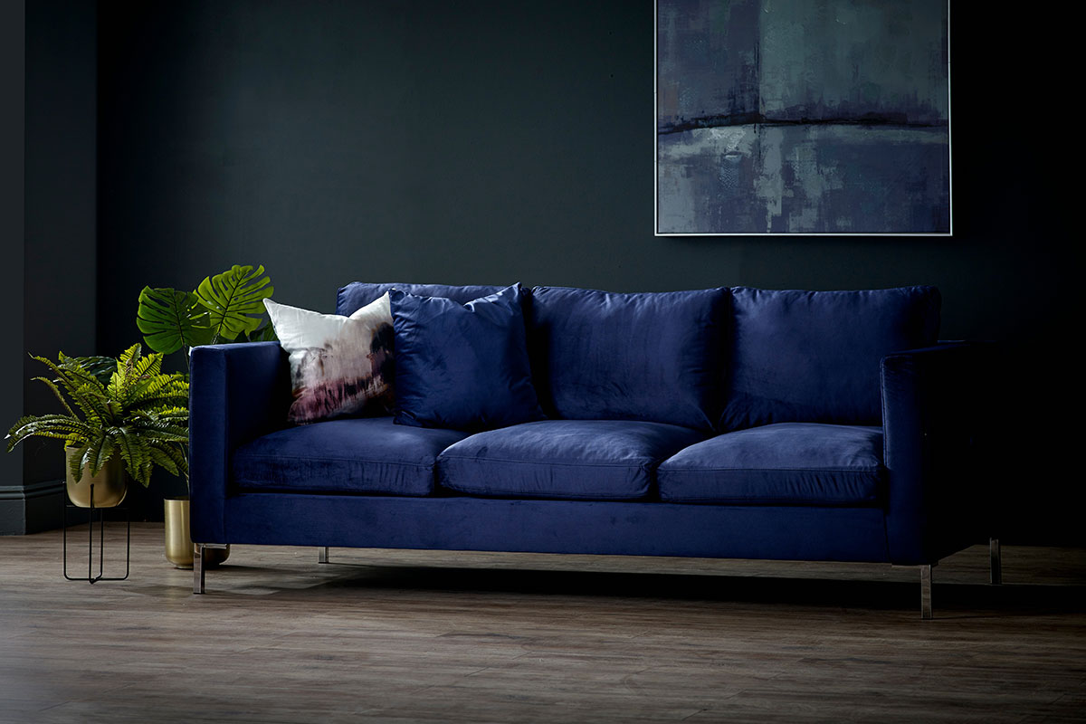 Blue Monday feature armchair Living It Up