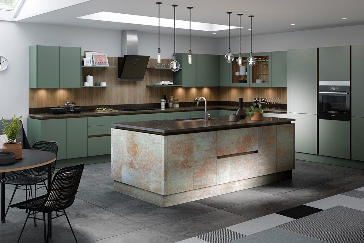 Green-gray Mereway kitchen