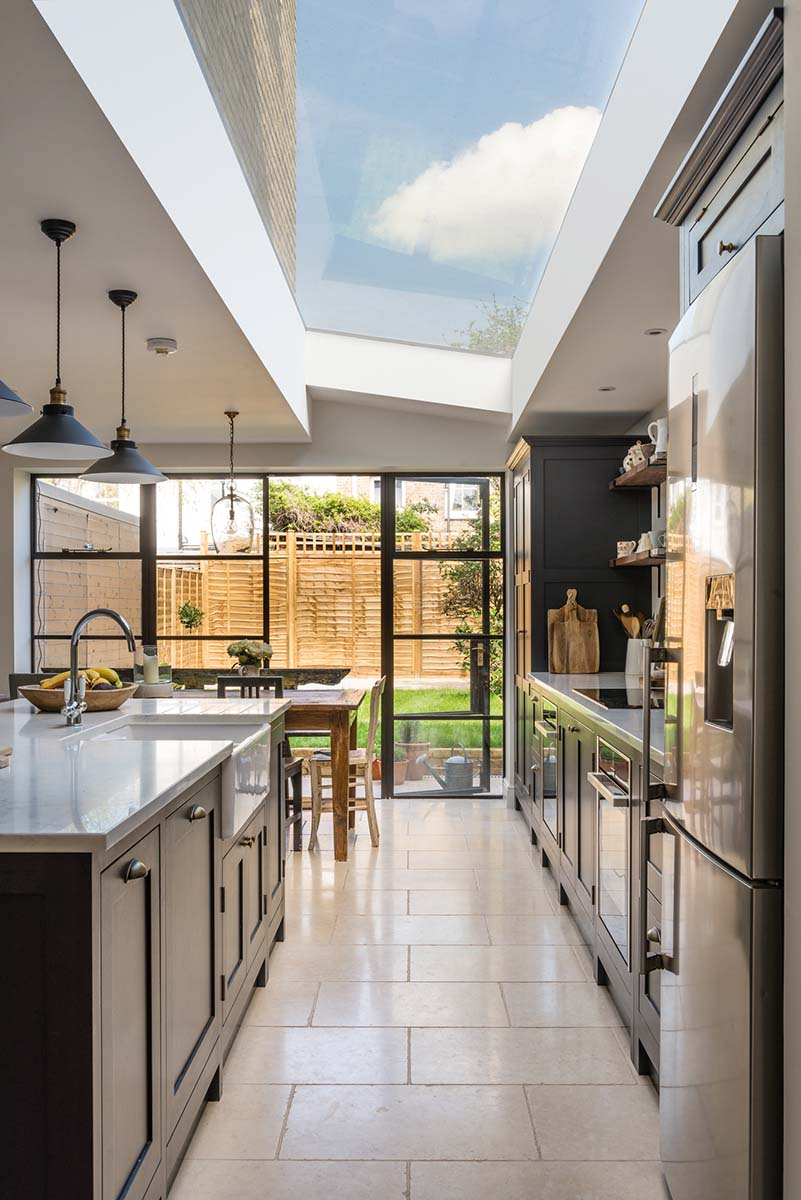 Shaker style side return kitchen extension