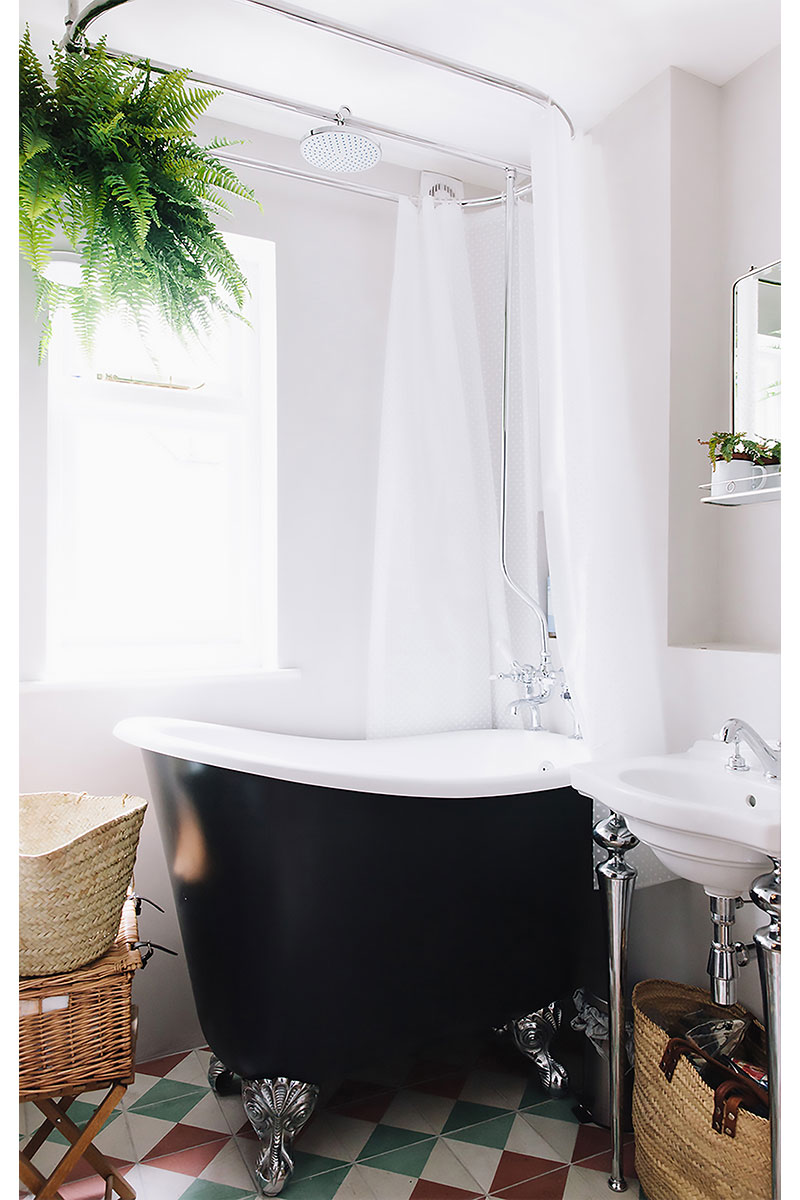 Small bath and shower