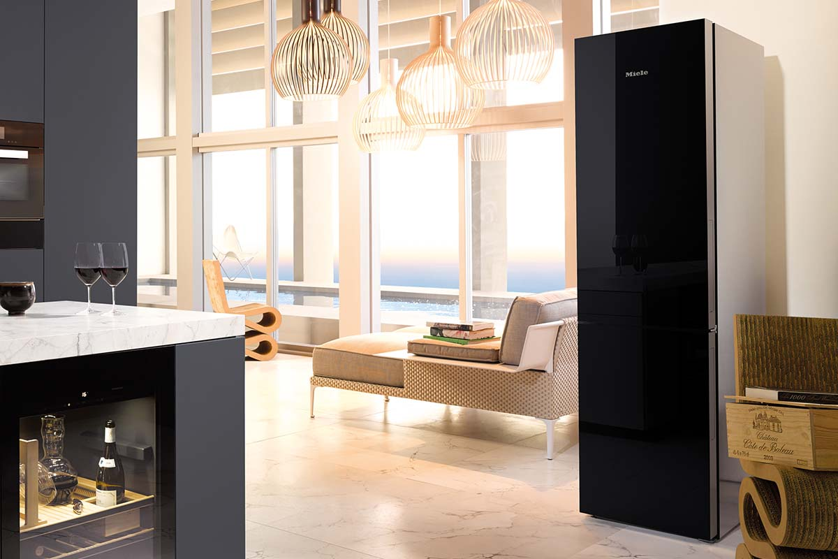 The sleek fridge freezer