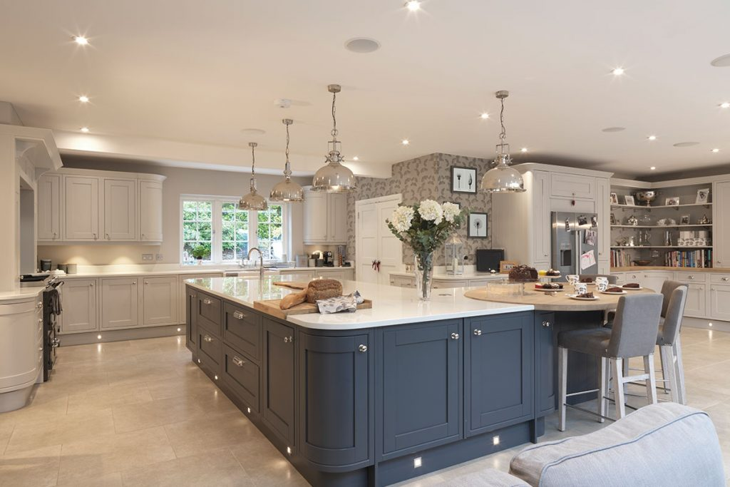 Laura Ashley kitchen grey and blue