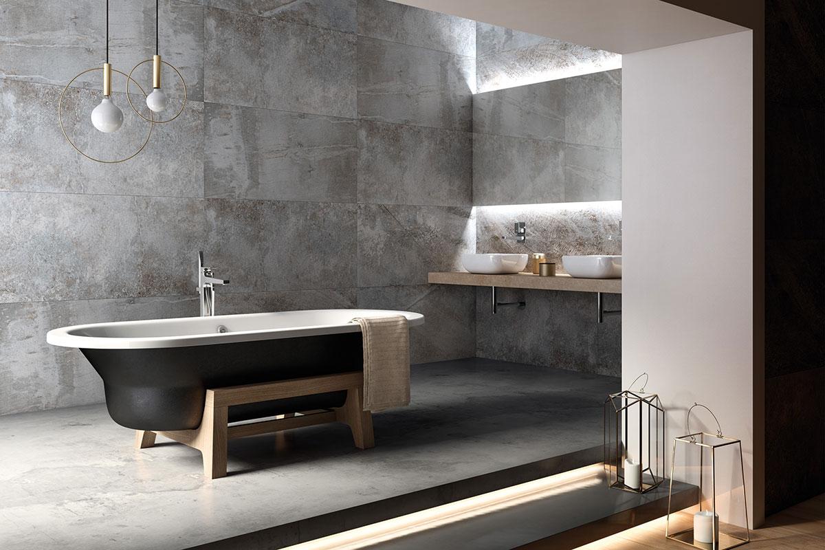 Arte Plus freestanding steel tub
