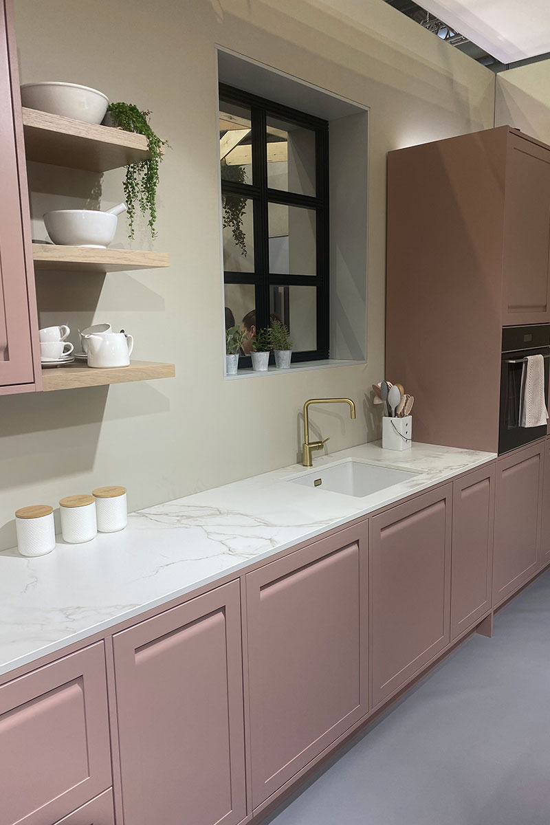 pink kitchen trend