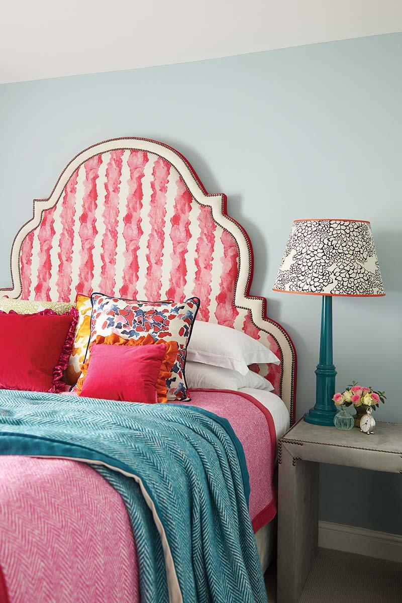 Headboard colourful bedroom