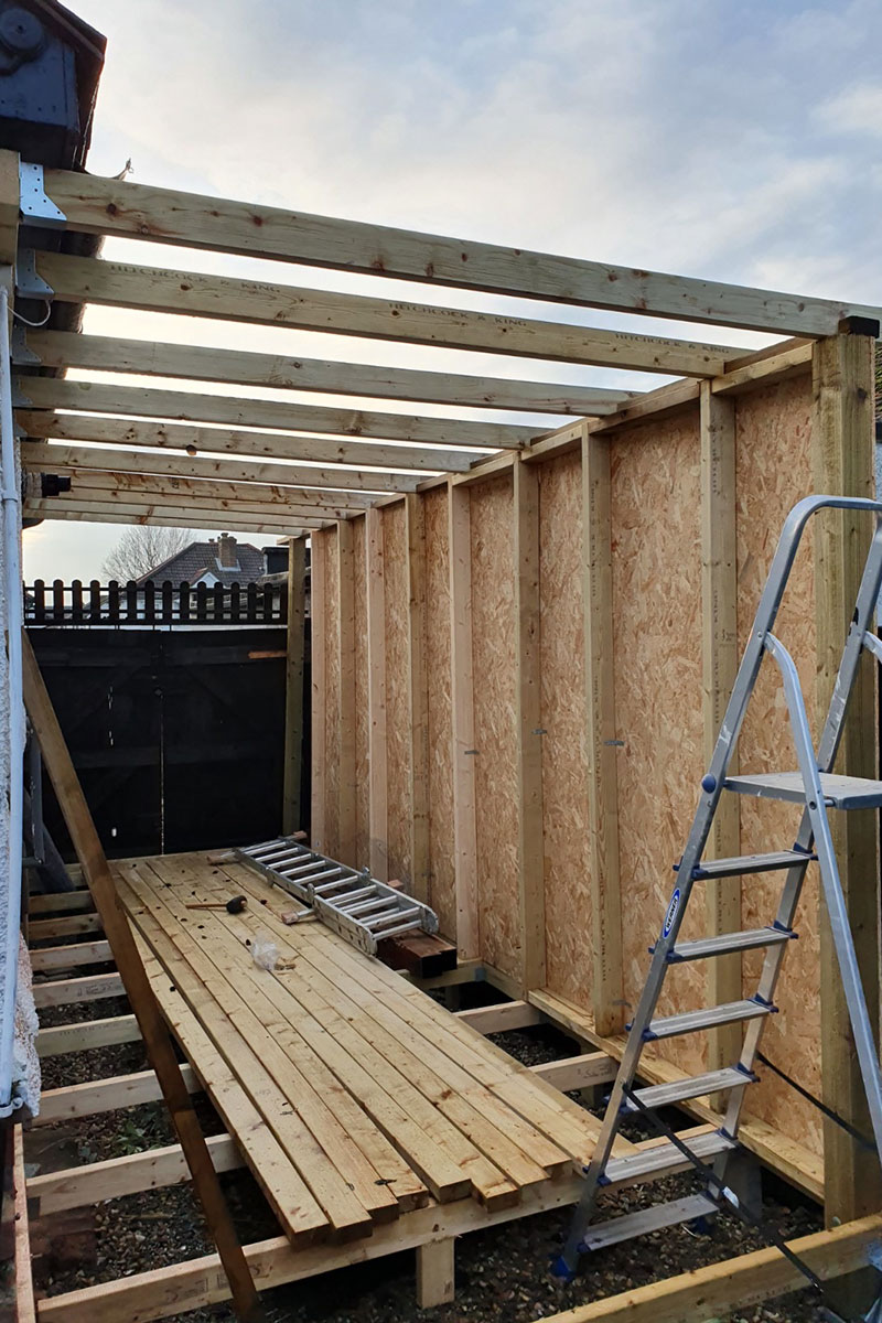 Side-extension building process