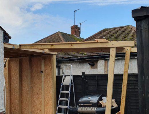 Side extension build begins