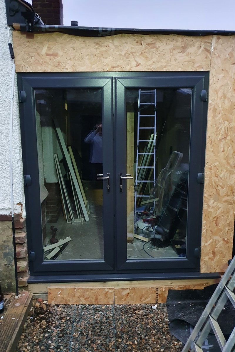 Side-extension French doors