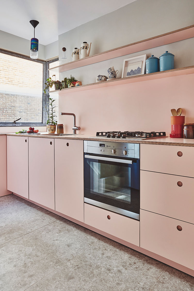Pink Pluck kitchen appliances
