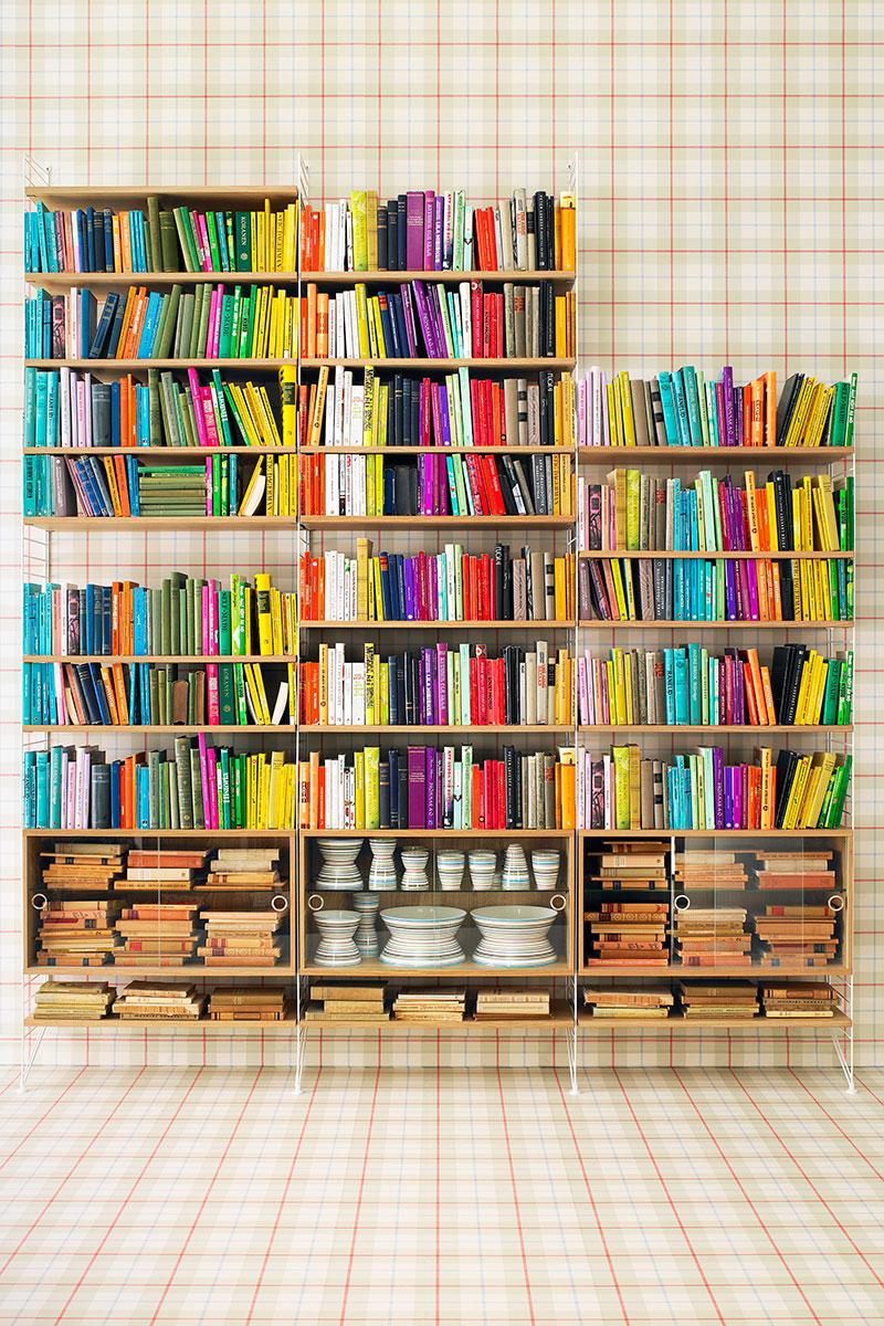 Colourful bookshelf
