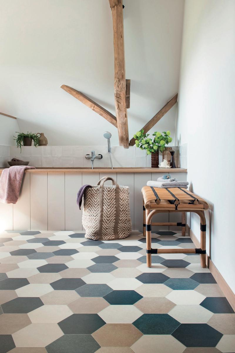 Bathroom vinyl flooring