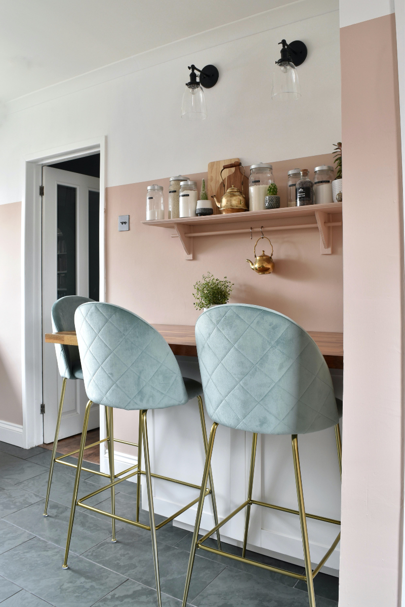Mint green stools