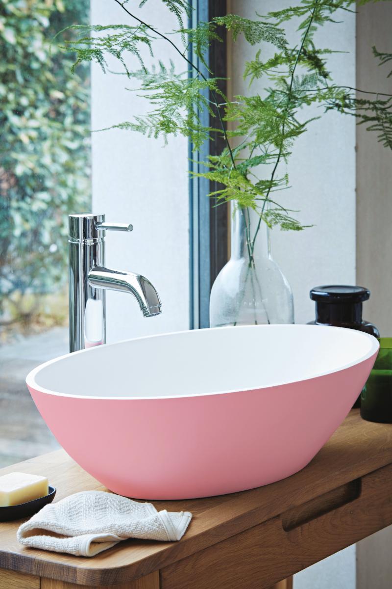 Pink washbasin