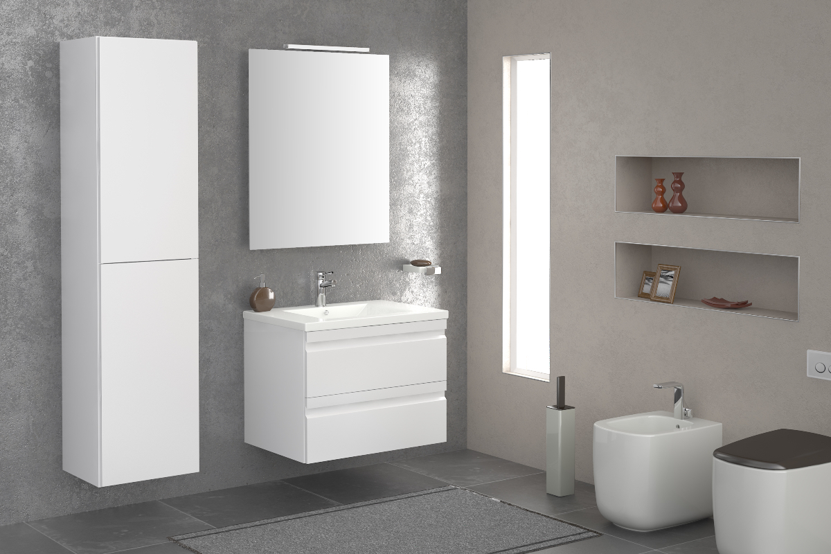 Minimal bathroom furniture
