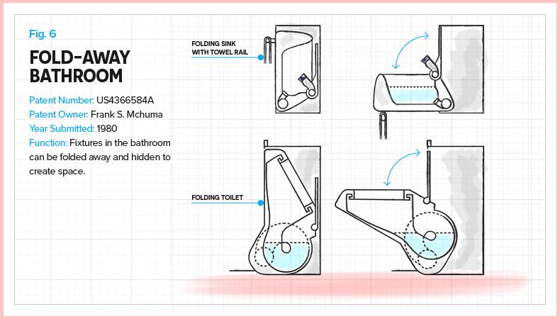 Folding WC