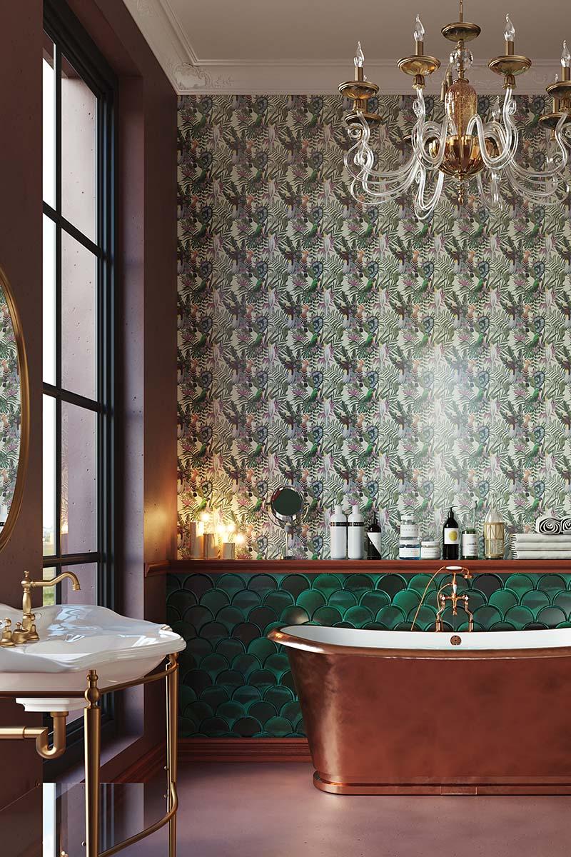 modern classic bathroom