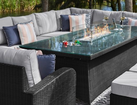 Outdoor heating with sofas
