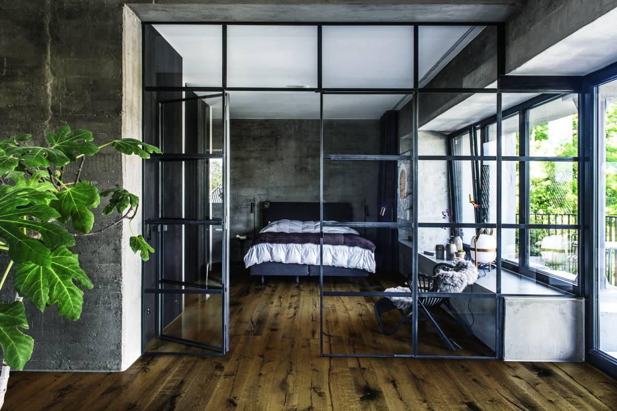 Internal glazing bedroom