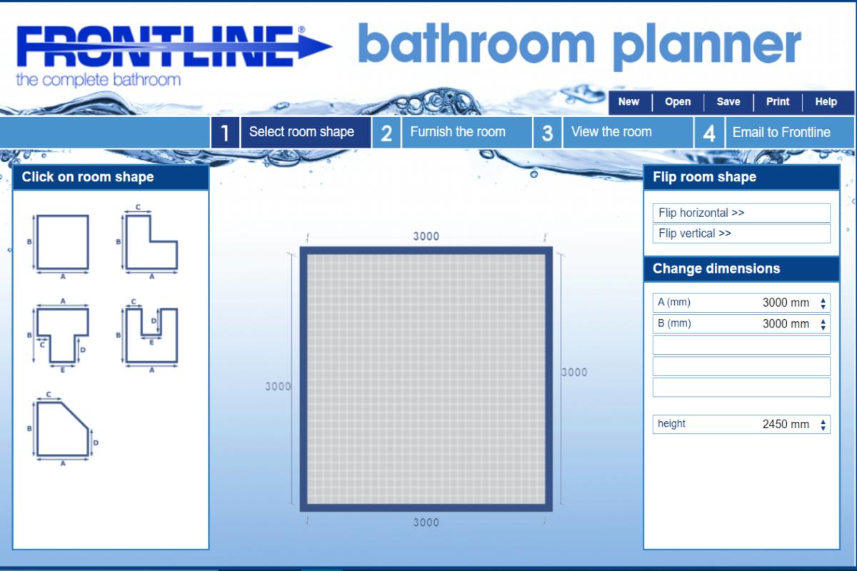 Virtual bathroom design tool