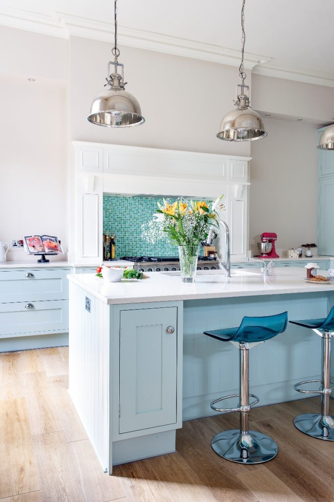pale blue kitchen